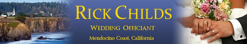 Wedding Officiant on the Mendocino Coast